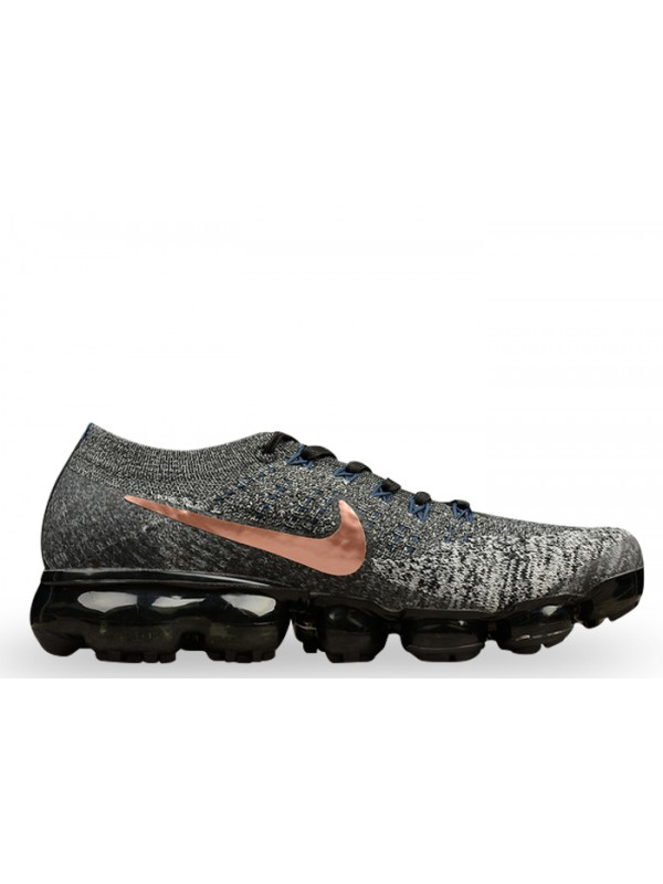 UA Nike Air Vapormax Flyknit Black MTLC Red Bronze Shoes for Sale