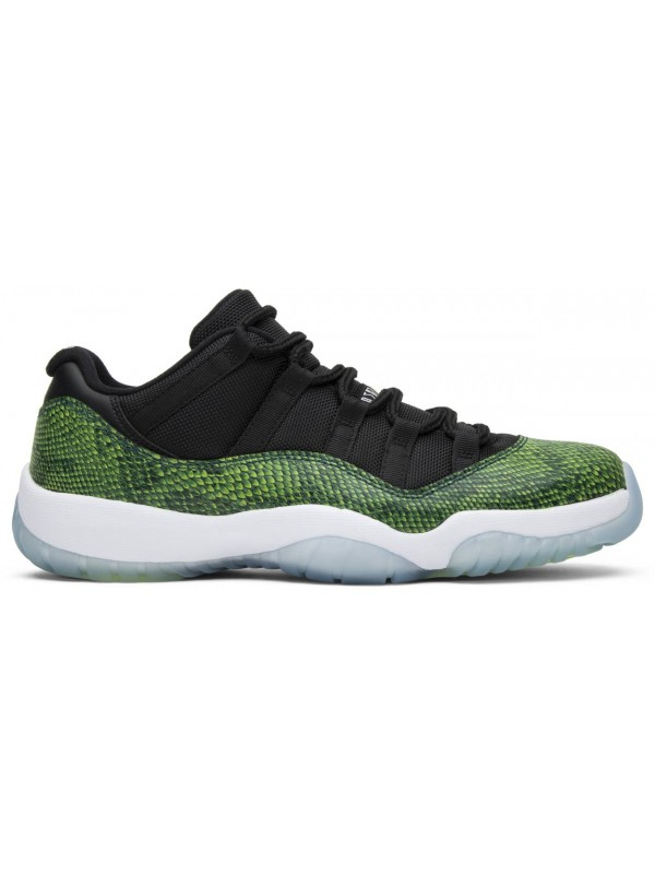 UA Air Jordan 11 Retro Low Green Snakeskin