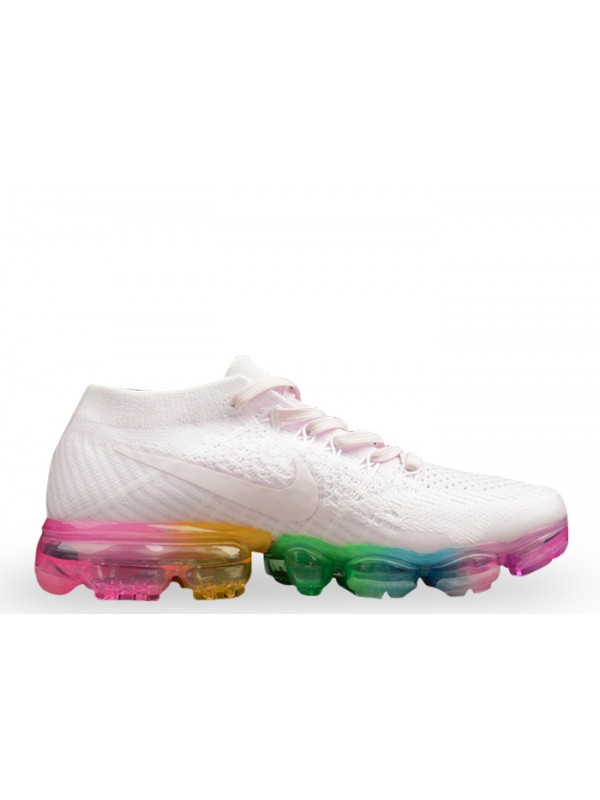 Hot Sale UA Nike Air Vapormax Flyknit White Concord Shoes