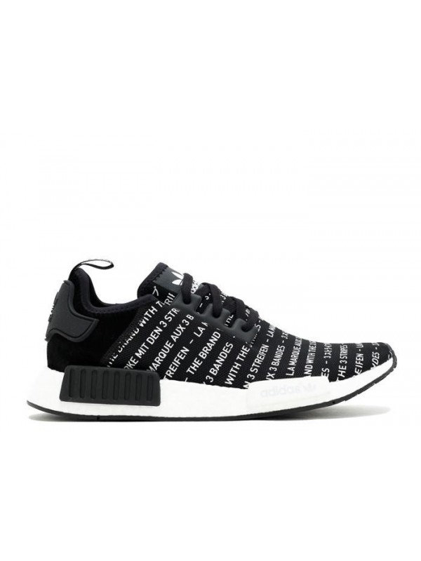 NMD R1 THREE STRIPES BLACK WHITE SNEAKERS