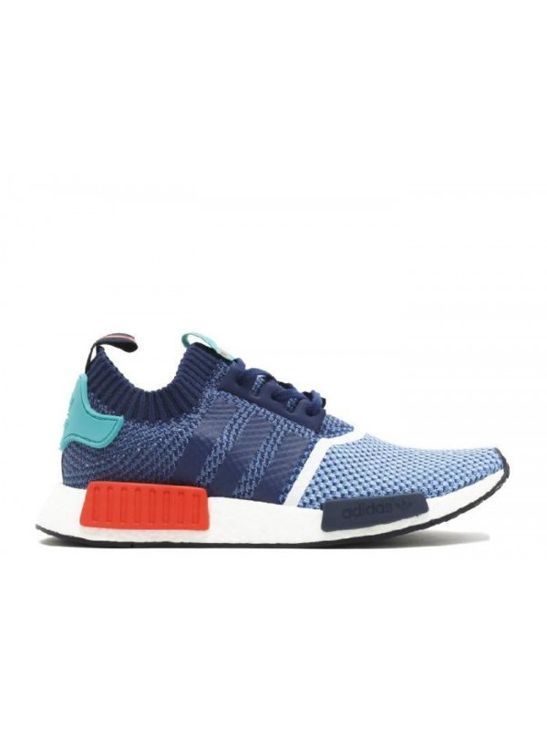Cheap NMD R1 PK Pakers Blue Turquoise Red