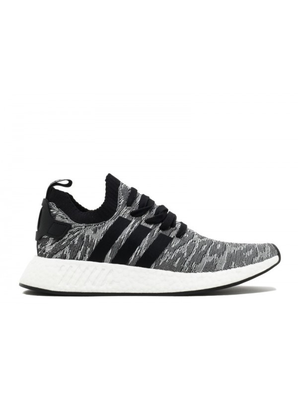 UA Adidas NMD R2 PK Black Black Running White Shoes for Sale Online