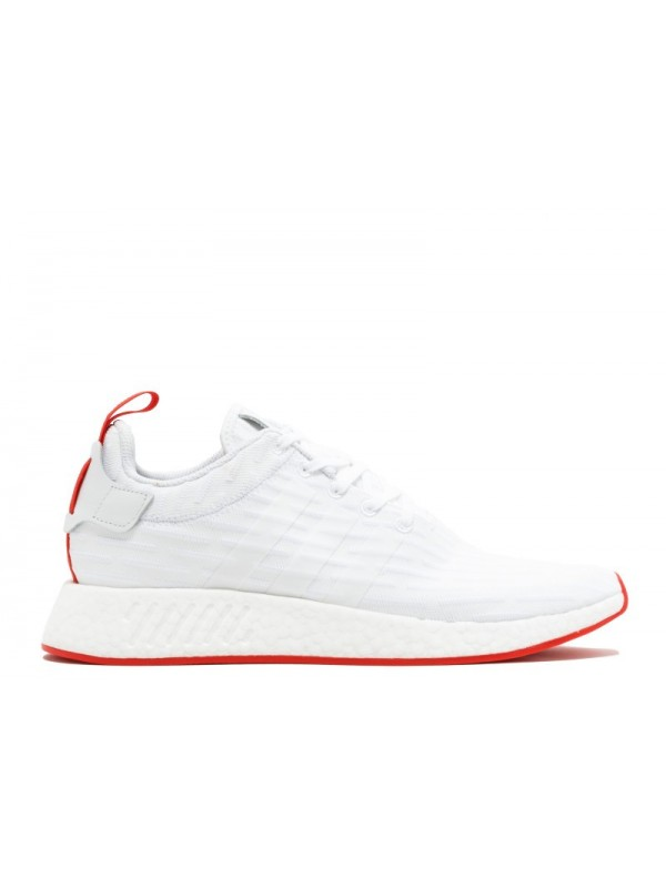 UA Adidas NMD R2 PK White Core Red Shoes for Sale Online