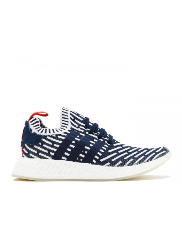 UA Adidas NMD R2 PK Roni Collegiate Navy Green White Sneakers for Sale Online