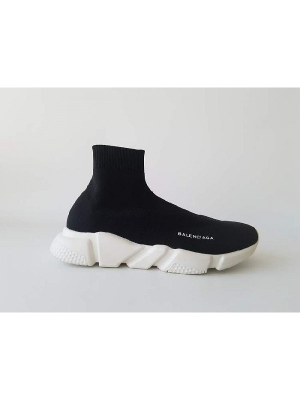 UA Speed Stretch-Knit Black White Bottom Mid Sneakers Online