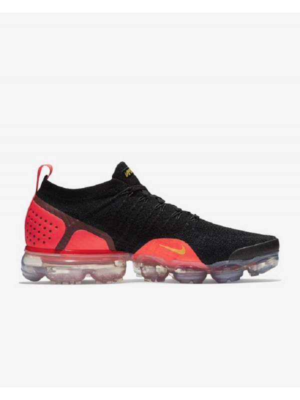 UA 2018 Air Vapormax Flyknit 2 Red Black Online