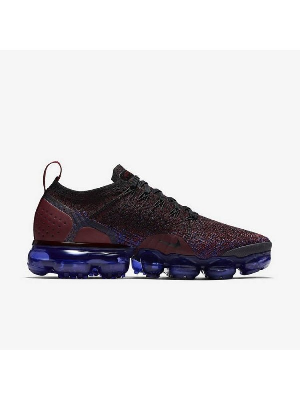 UA 2018 Air Vapormax Flyknit 2 Dark Red Blue Online