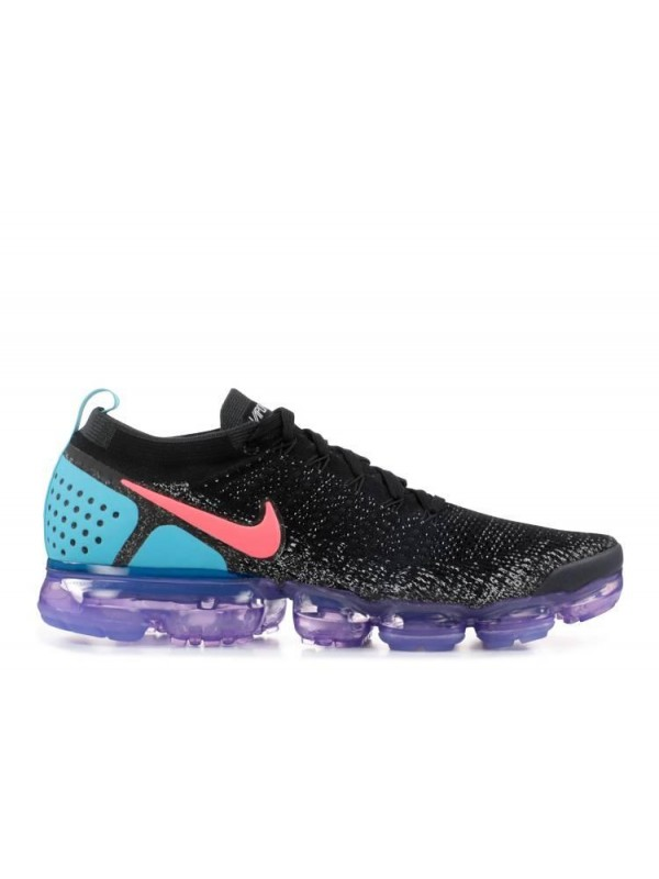 UA Air Vapormax Flyknit 2 Black Blue Purple With Red Logo Online