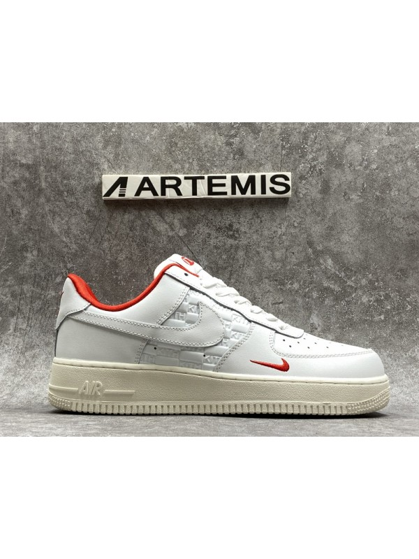 UA KITH X AIR FORCE 1 LOW WHITE RED