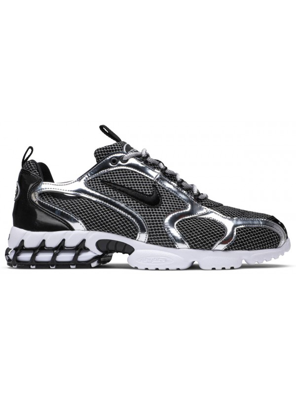 UA Nike Air Zoom Spiridon Cage 2 Stussy Pure Platinum