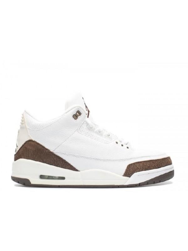 UA Air Jordan 3 Retro White Dark Mocha