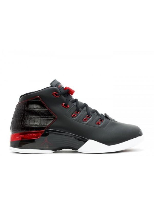 UA Air Jordan 17+ Retro Bulls Black Gym Red White