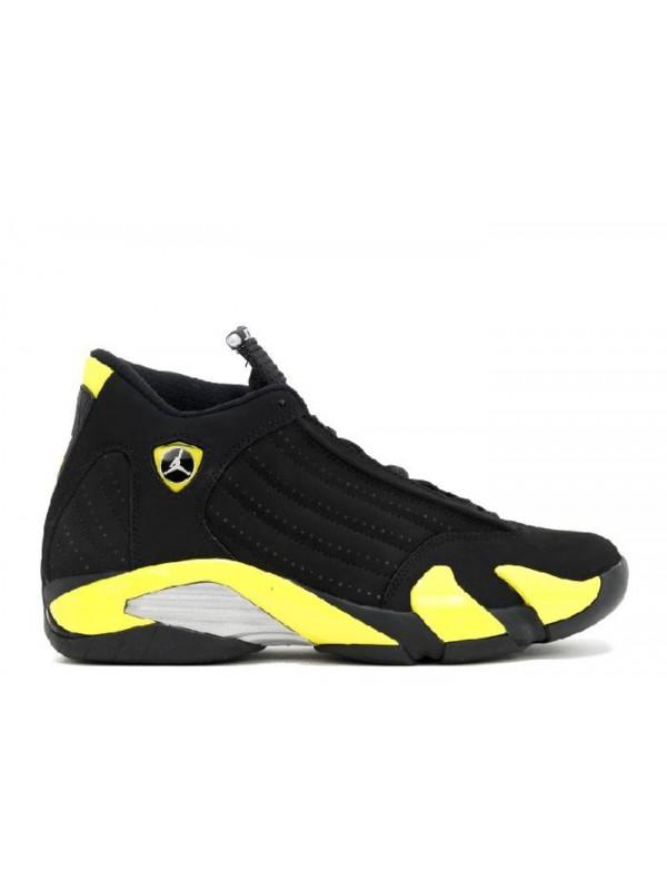 UA Air Jordan 14 Retro Thunder Black Vibrant Yellow White