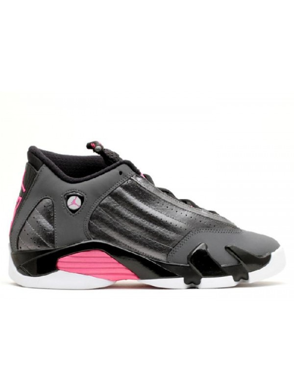 UA Air Jordan 14 Retro GG(GS) Metallic Dark Grey Hyper Pink Black