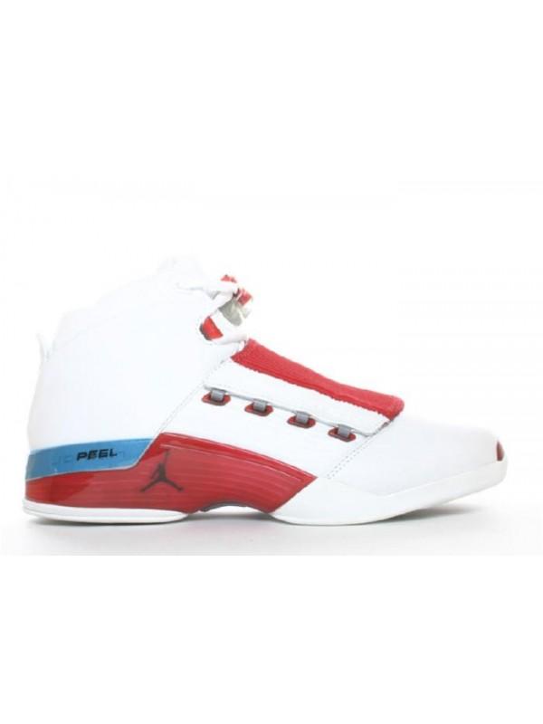 UA Air Jordan 17 White Varsity Red Charcoal
