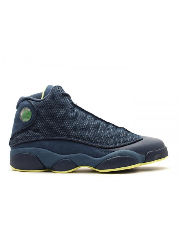 UA Air Jordan 13 Retro Squadron Blue Electric Yellow Black
