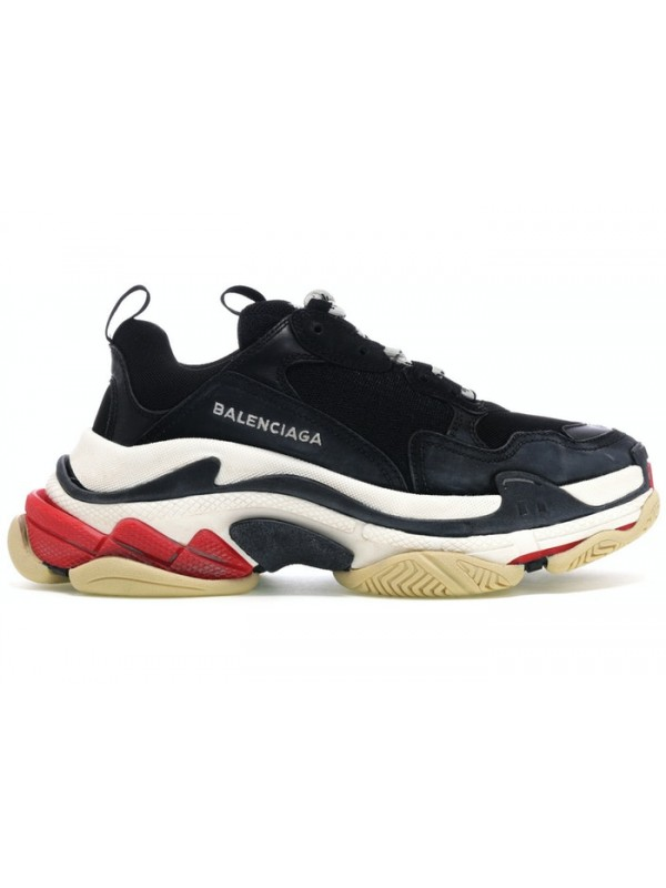 UA Balenciaga Triple S Black White Red