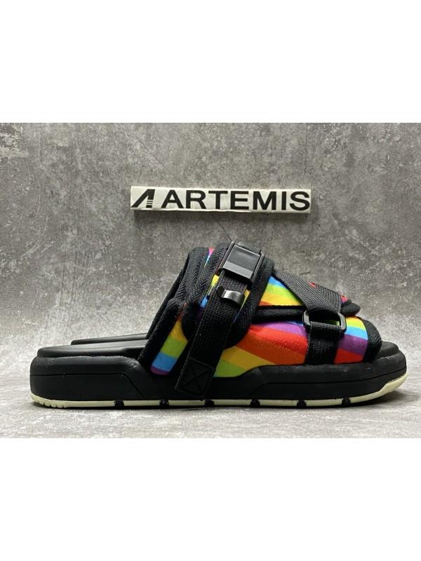 UA Visvim Christo Slipper Rainbow Color