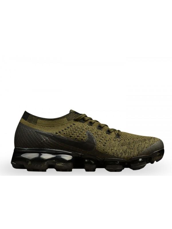 UA Nike Air Vapormax Flyknit Cargo Khaki Black-Medium Olive Shoes