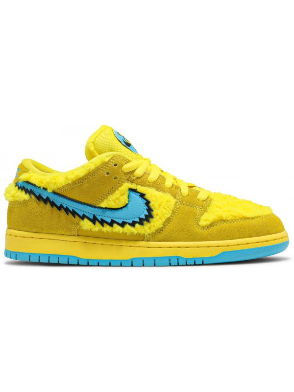 UA Nike SB Dunk Low Grateful Dead Bears Opti Yellow