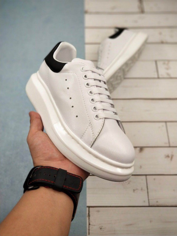 UA Alexander McQueen White and Black Oversized Sneakers