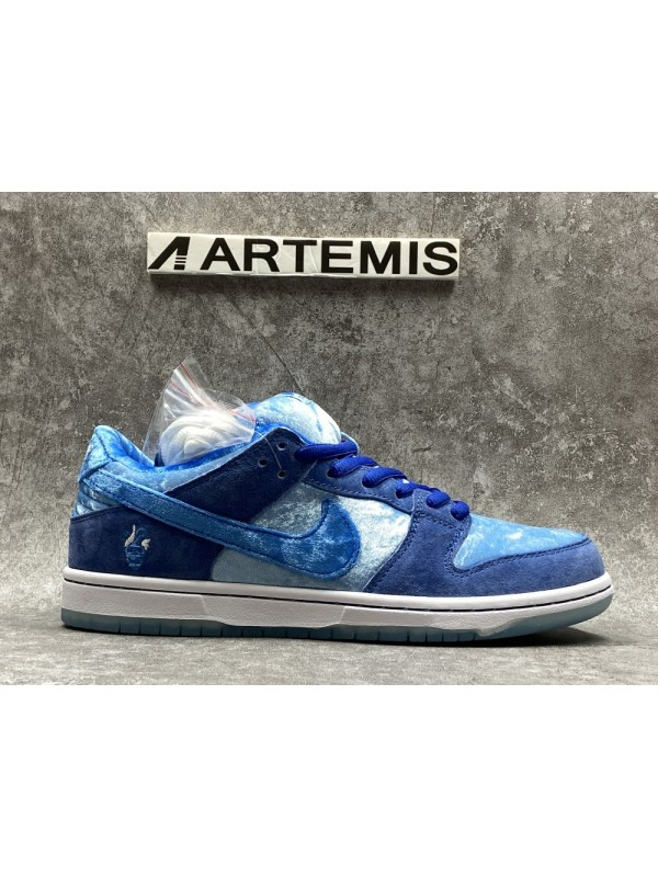 UA NIKE SB DUNK LOW SKATEBOARDS BLUE (Customization Version )