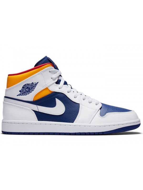 UA Air Jordan 1 Mid Royal Blue Laser Orange