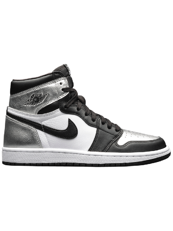 UA Air Jordan 1 Retro High Silver Toe