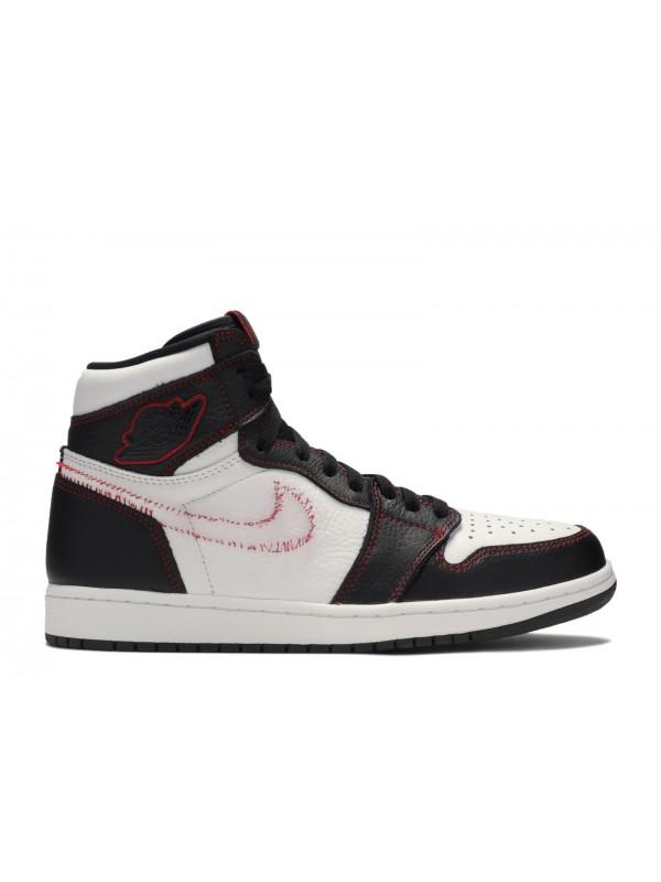 UA Air Jordan 1 Retro High Defiant White Black Gym Red