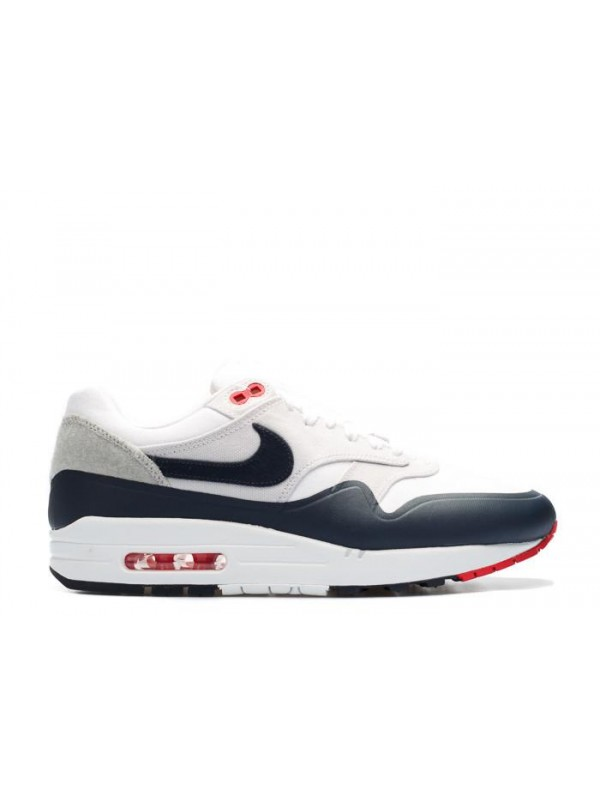 Cheap Air Max 1 Red White University Patch Shoes